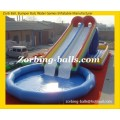 25 Inflatable Pool with Water Slides