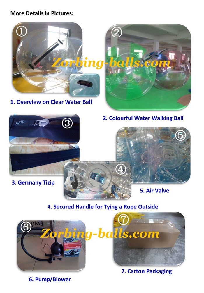 Inflatable Water Walking Ball for Sale, Bubble Ball Water Walkers, Water Walkerz